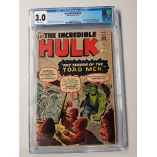 Incredible Hulk #2 CGC 3.0 1st Appearance of Green Hulk